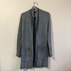 SUNG Alfred Sung Open Front Long Cardigan